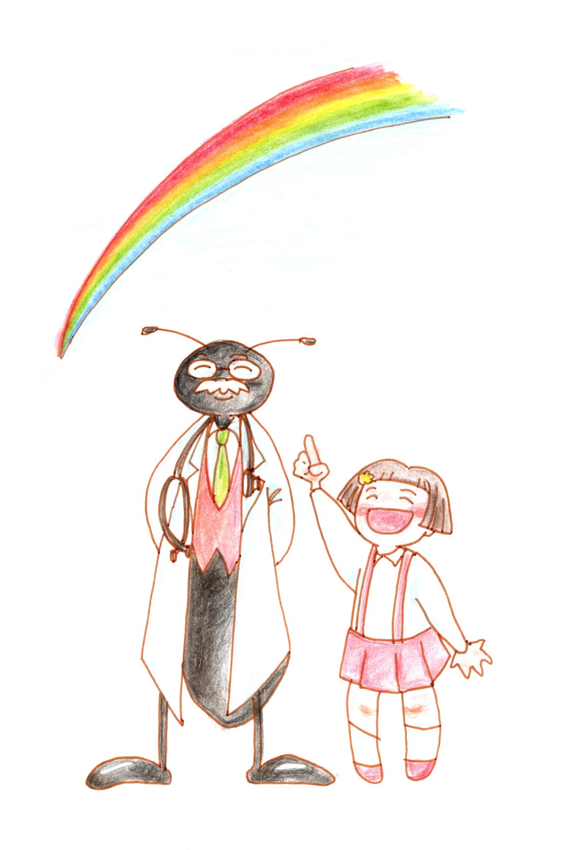 空から虹の贈り物